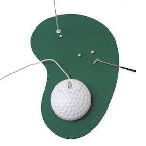 Valentinstag Mauspas und Maus Golf