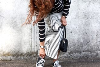 Stilwalk, Diana Paul, Gucci, Fashion, Streifenlook, Chucks, Allstars, Daniel Wellington, Style, Matrosenlook