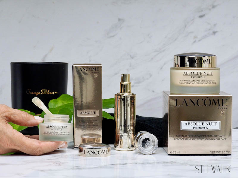 Lancome, Anti-Aging, gold, Skincare, Stilwalk, Diana, Serum, Nachtcreme, Augencreme, Elastizität, Absolue